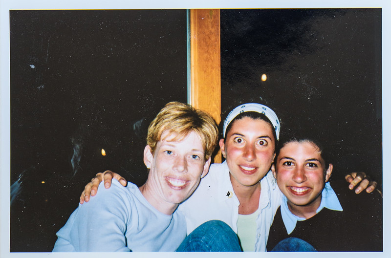 Sara Jarvie, Carine and Pascale Dumit 2003 at Duck Beach