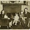Pauline with Paul, Kathy, Russ, Russell Lamson. 1942