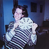 Me showing off my snowflake I cut out. Sara Jarvie 1995