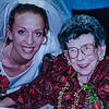 Kristen Jarvie and Pauline Lamson at Kristen's wedding Oct. 2001