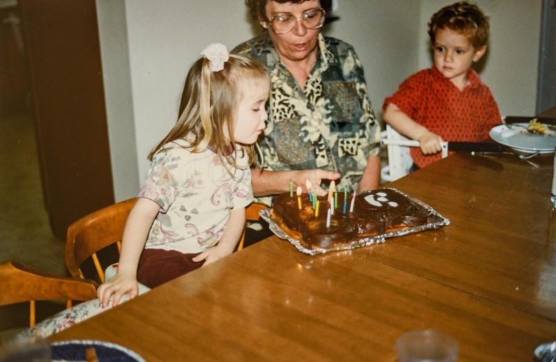Micheala, Kathy, Remington at the Wrangler House in Bonita, California