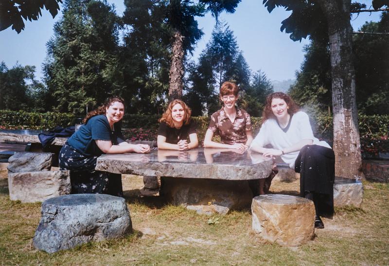 Kim, Mik, me (Sara), Melinda, at Encore Gradens 2000