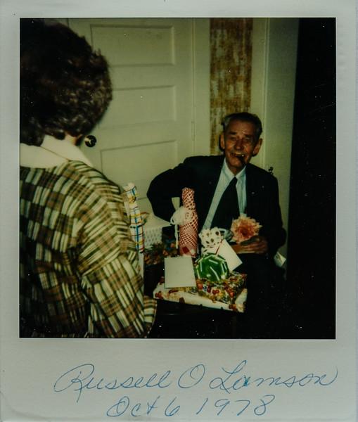 Russell O Lamson Oct. 6 1978