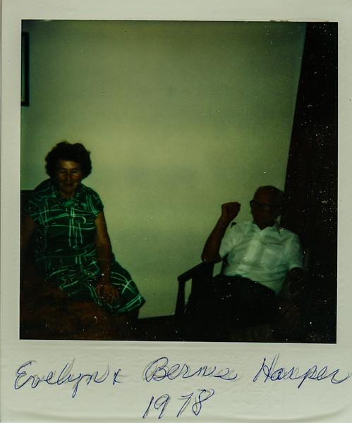 Evelyn and Bernie Harper 1978