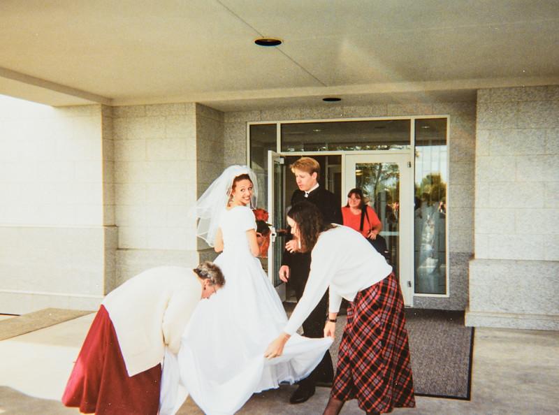Kristen's wedding Oct. 2001