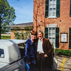 Sara and Scott picking up gradma Lamson's car in Iowa 1997
