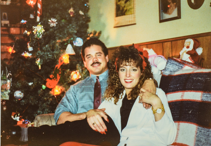 Heidi and Jon x mas 1989
