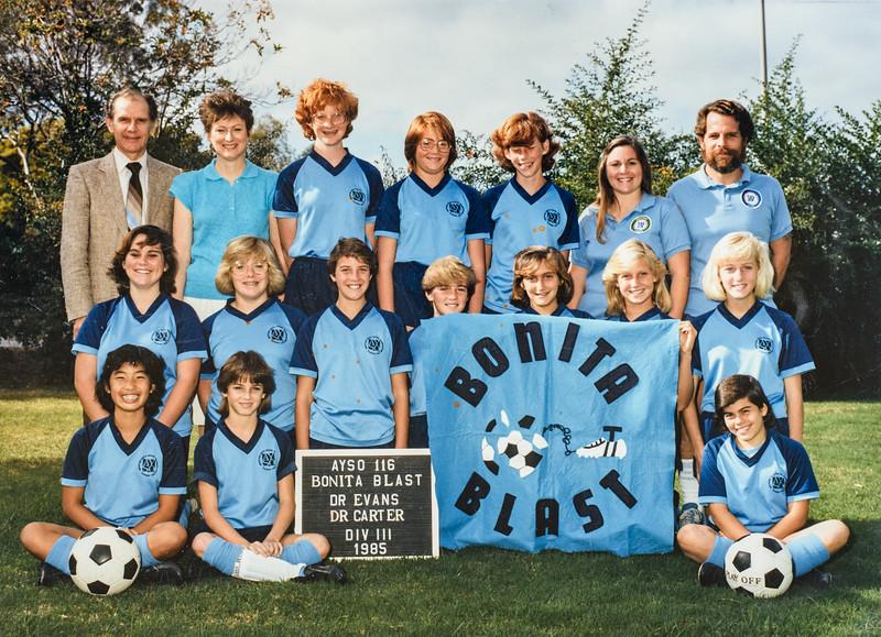 Sara's team 1985