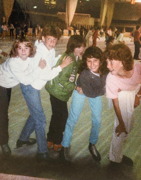 Sara's Bday iceskating 1986