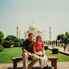 Brian and Renee at Taj Mahal Agra, India June 2000