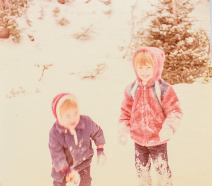 Kristen and Sara Jarvie 1977