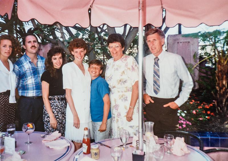Kris, Jay, Jodi, Sara, Scotty, Kathy, R. Scott Sara's graduation 1991