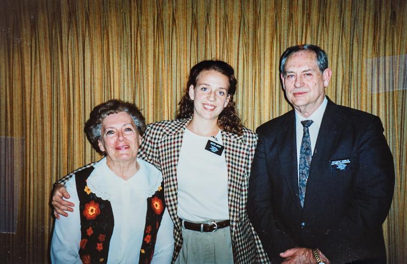 Kristen Jarvie President and Sister Hamblin 1995