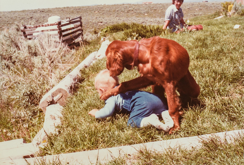 Scottie and Mom June 7, 1980 Spring Creek, NV