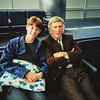 Sara and R. Scott flying to Iowa to pick up a car 1997