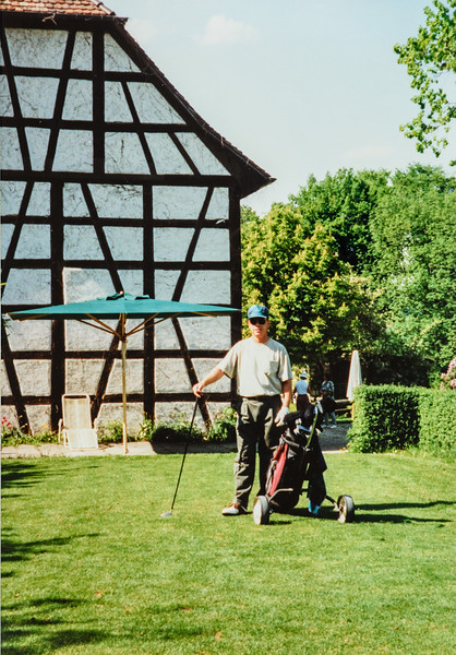 Matthew golfing Germany 5/98