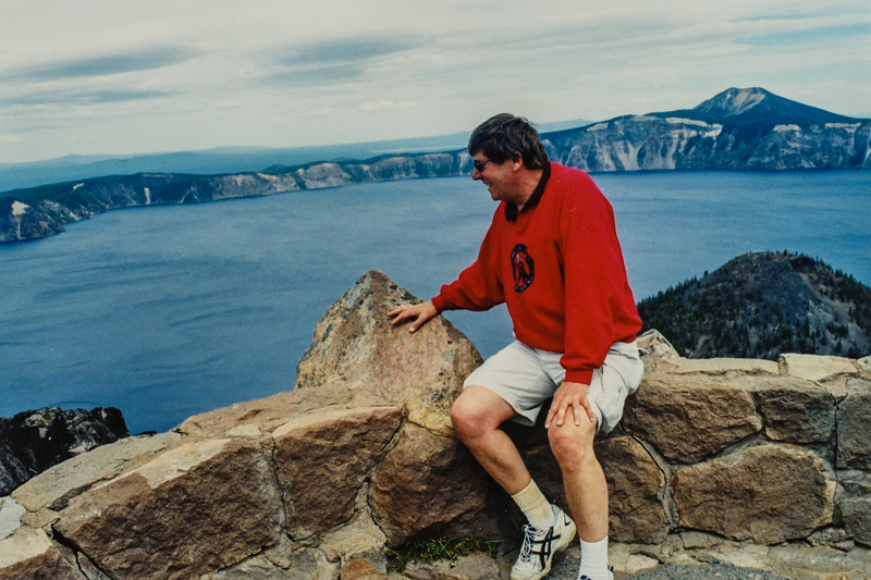Paul at Crater Lake 2002