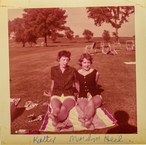 Kathy and Marilyn Heil 1956