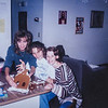 Kelly, Bethany and I (Sara J) Our gingerbread house collapsed 1995