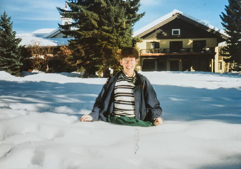 Me (Sara) waist deep in snow in Sun Valley 1995