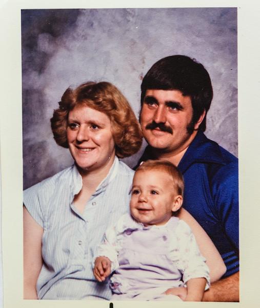 Teresa, Verl and Mariah Nov. 1982