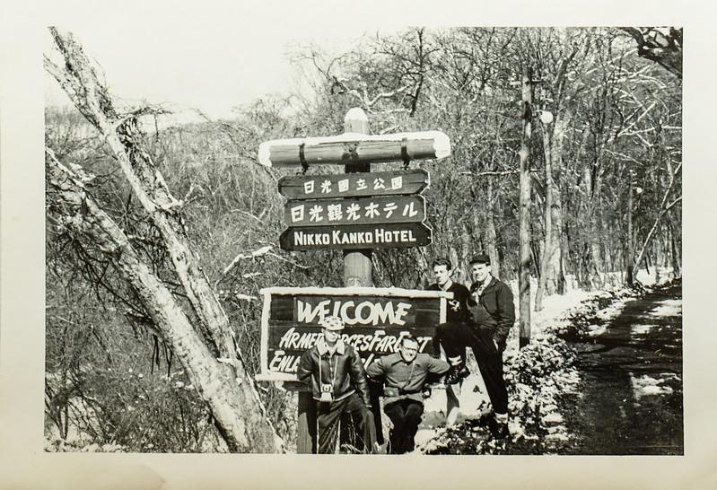Scott with friends in Japan 1954