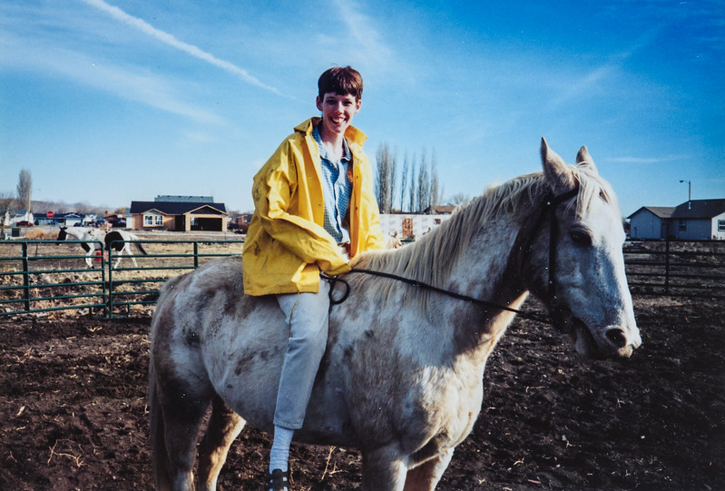 Me riding a horse in Idaho. 1994