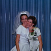Kristen and Sara at Kristen's wedding 2001