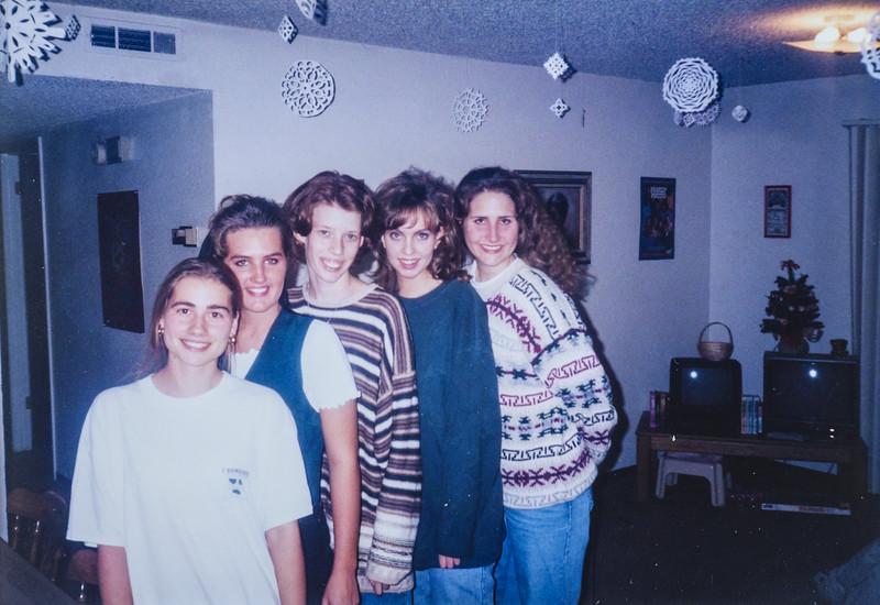 Amy, Reannon, Me (Sara), Kelly and Bethany 1995