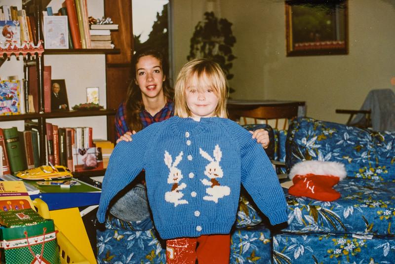 Micheala and Jodi Christmas 1993