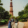 Renee, Brian, Paul, Delhi, India June 2000 800 yr old minaret