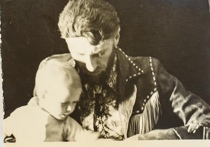 Sara and Dad 1973