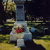 Rensselaer R. Russell Born 6-18-1828 at Otsego, NY. Died 11-11-1896 in Waterloo, Iowa. Caroline M. Russell Born 9-17-1830 at Paris, NY. Died 3-9-1887 in Waterloo, Iowa. Picture taken Memorial Day 1997