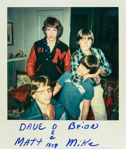 Dave, Brian, Matt, Mike Dec. 1979