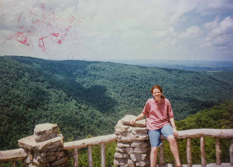 This is me (Kristen Jarvie) at Coopers Rock. Isn't it a pretty view. I know I look silly. Check out the green