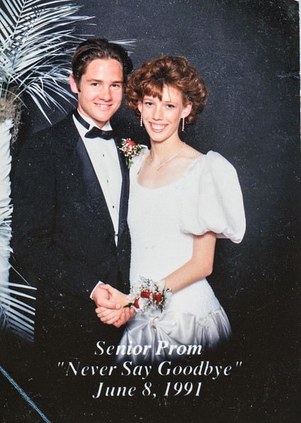 1991 Dad, Here's my prom picture carry it with pride. I hope that I will always be a daughter you are proud of. I love you. Love Sara
