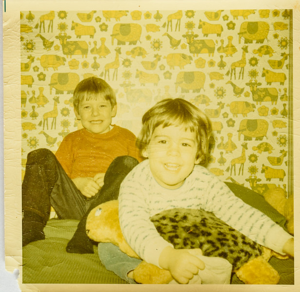 Brian and Mike Lamson Feb. 1971