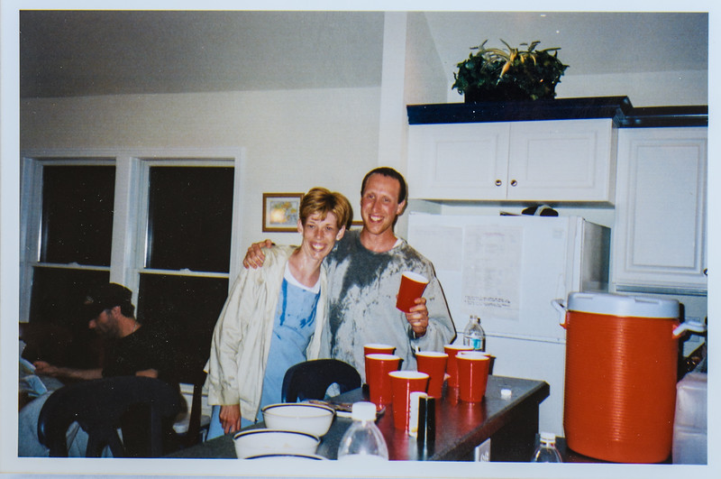 Colin Shepard and Sara Jarvie after water fight at Duck Beach 2003