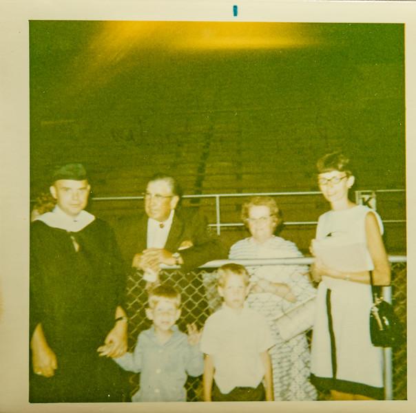 Bill graduates, his parents
