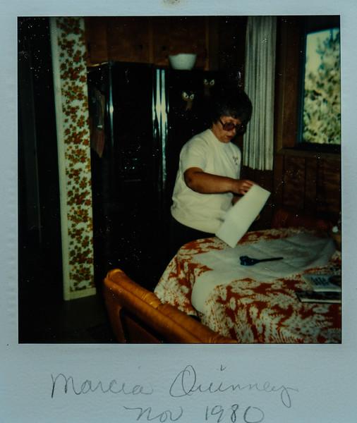 Marcia Quinney Nov. 1980