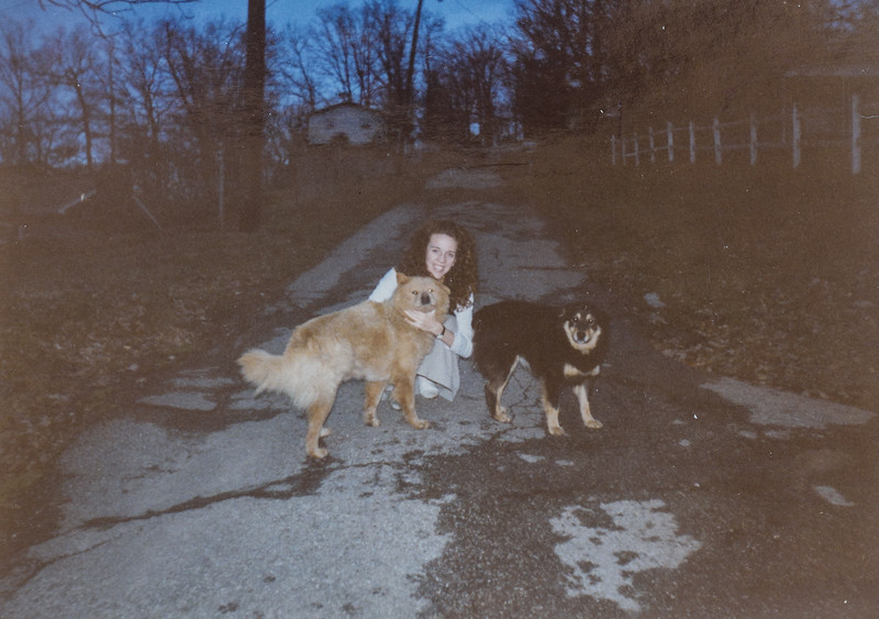 Dogs always follow us tracking! I love them. Kristen Jarvie Dec. 96
