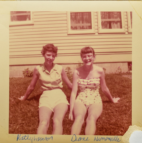Kathy Lamson and Diane 1956