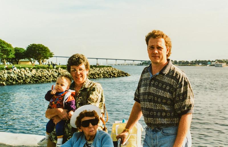 Alec, Kathy, Nana Lamson and Dave