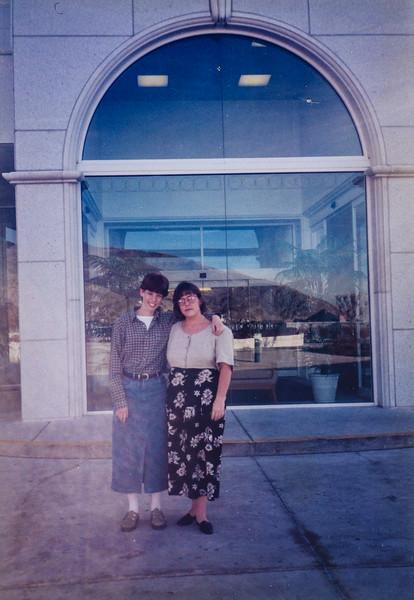 Sara Q and Sara J Sara's endowment Bountiful temple 1996