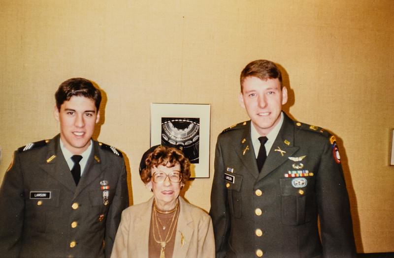 Mike Lamson, Grandma Lamson, Brian- 2nd Lt. -Lamson