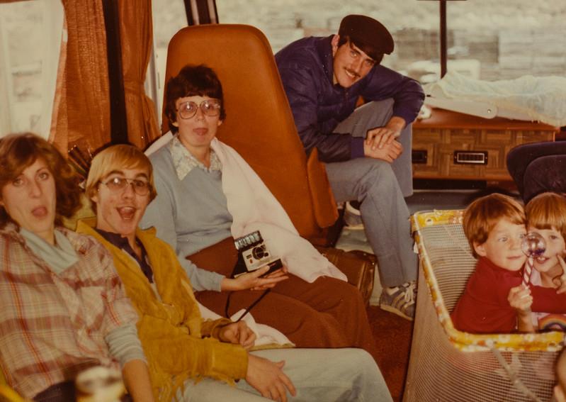 Vonda, Jeff, Kathy, Jay, Kris, Sara Thanksgiving Day Nov. 1979