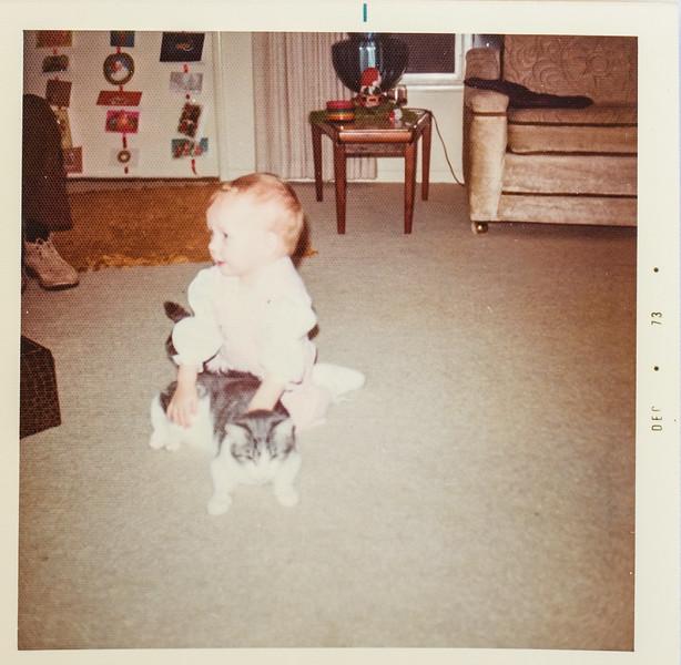 Sara xmas at Ray Jones 1973