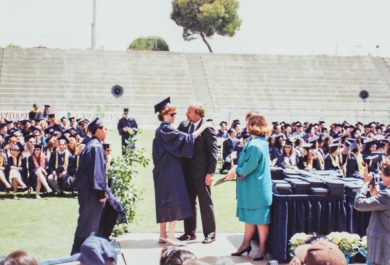 Sara and Mr. Minich HS 1991