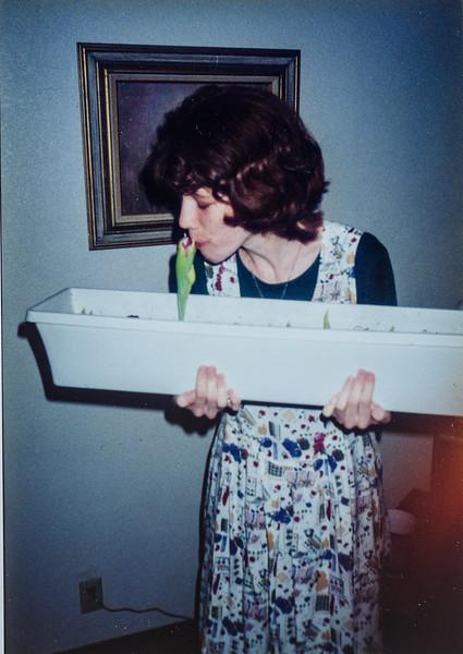 Me kissing my homegrown tulip Sara Jarvie 1995