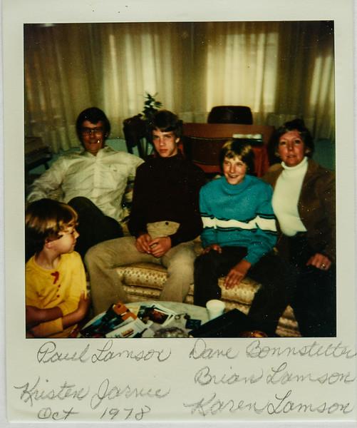 Kristen Jarvie, Paul Lamson, David Bonnstetter, Brian Lamson, Karen Lamson Oct. 1978